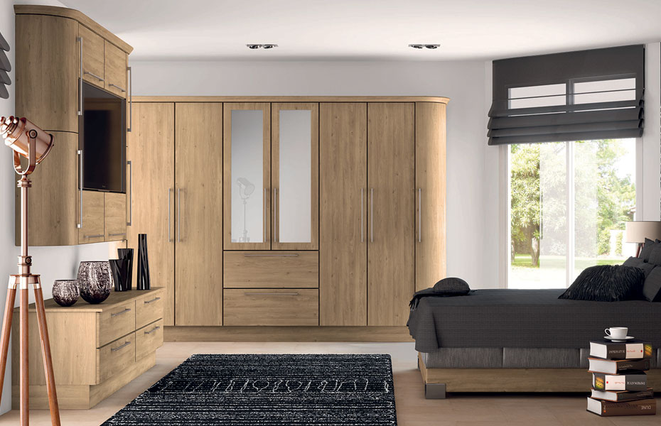& Premier Duleek wardrobe doors in Odessa Oak by HOMESTYLE