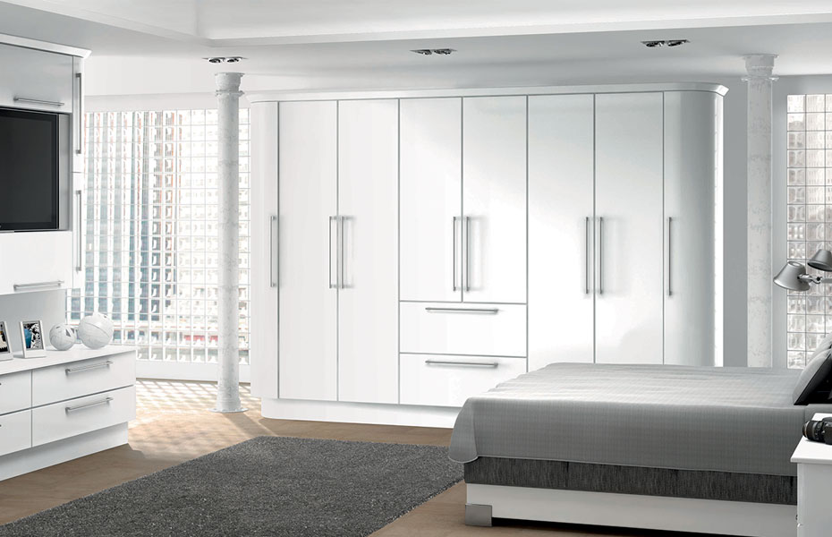 high gloss white bedroom picture - Glossy White Bedroom Furniture
