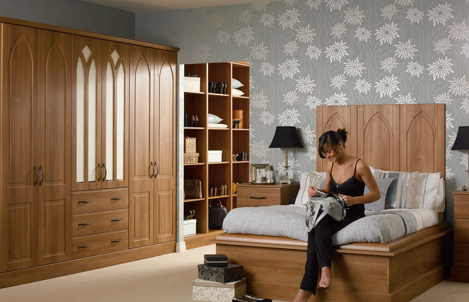 premier porto wardrobe doors in medium walnut by homestyle