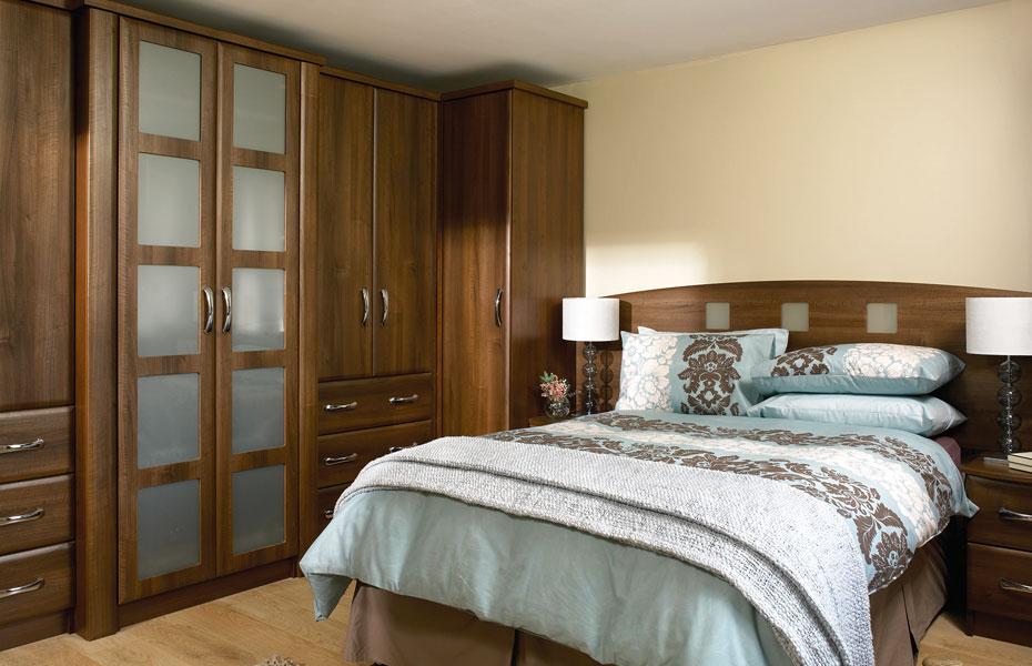 Premier Slab Wardrobe Doors In Dark Walnut By Homestyle