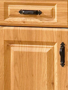 Close up of Pippy Oak kitchen