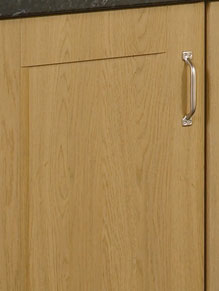Close up of Lissa Oak kitchen