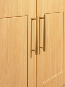 Close up of Beech kitchen
