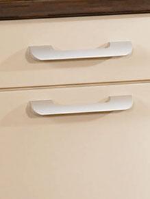 Close up of Premier Duleek kitchen doors in High Gloss Beige