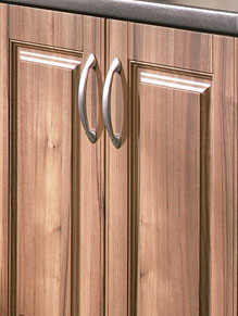 Close up of Beaded Paris kitchen doors in Medium Tiepolo