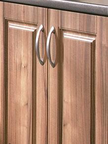 Close up of Beaded Paris kitchen doors in Medium Tiepolo (discontinued)