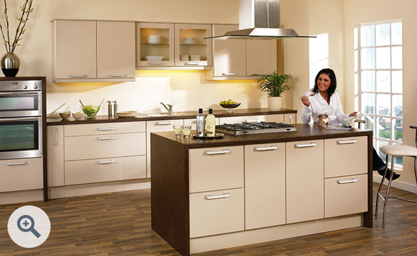 High Gloss Beige kitchen picture