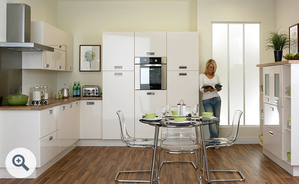 High Gloss Ivory kitchen picture