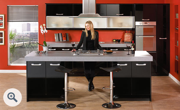 High Gloss Black kitchen picture