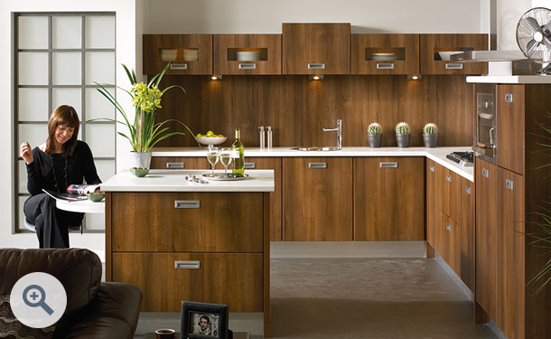 Dark Walnut kitchen picture