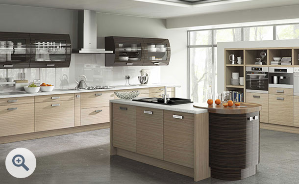 Troscan Oak and High Gloss Ebony kitchen picture