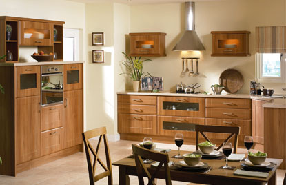 Shaker Auckland kitchen in Medium Walnut finish