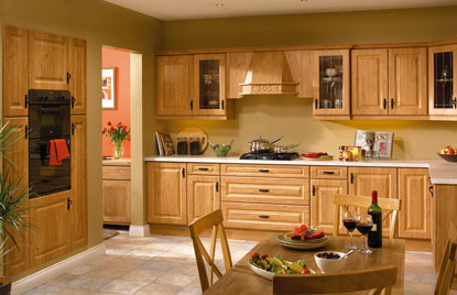 Premier Calcutta kitchen in Pippy Oak finish