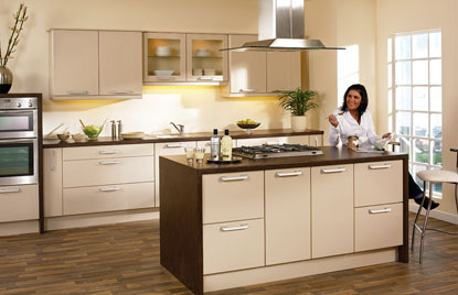 Premier Duleek kitchen in High Gloss Beige finish
