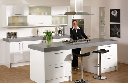 Premier Duleek kitchen in High Gloss White finish