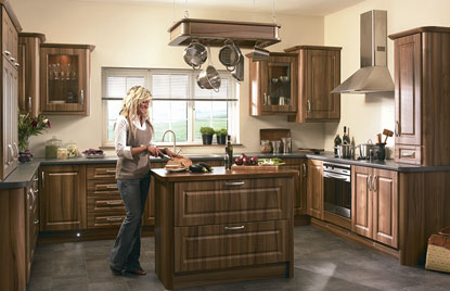 Beaded Paris kitchen doors in Medium Tiepolo