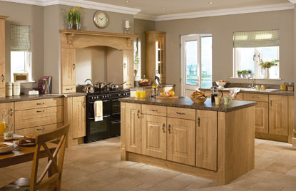 Premier Rosapenna kitchen doors in Winchester Oak