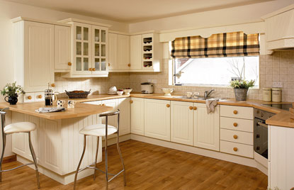 Premier Stockholm kitchen in Hornschurch Ivory finish