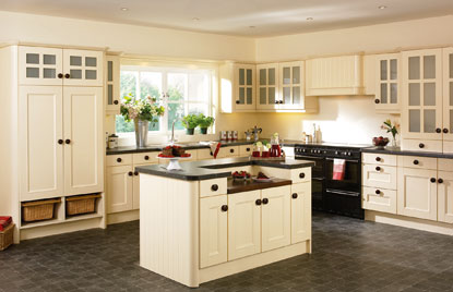 Beaded Vienna kitchen in Cream Ash finish