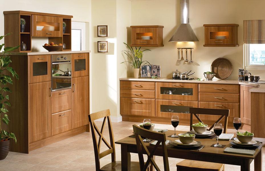 Shaker Auckland Kitchen Doors In Medium Walnut By Homestyle