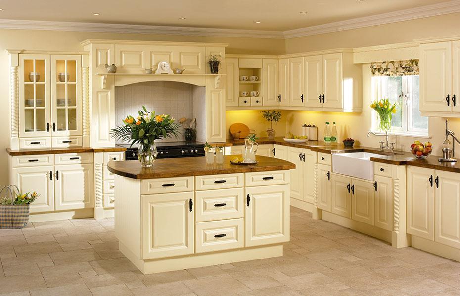 Kitchen Design Ideas Cream Cabinets ~ Premier calcutta kitchen doors in vanilla by homestyle