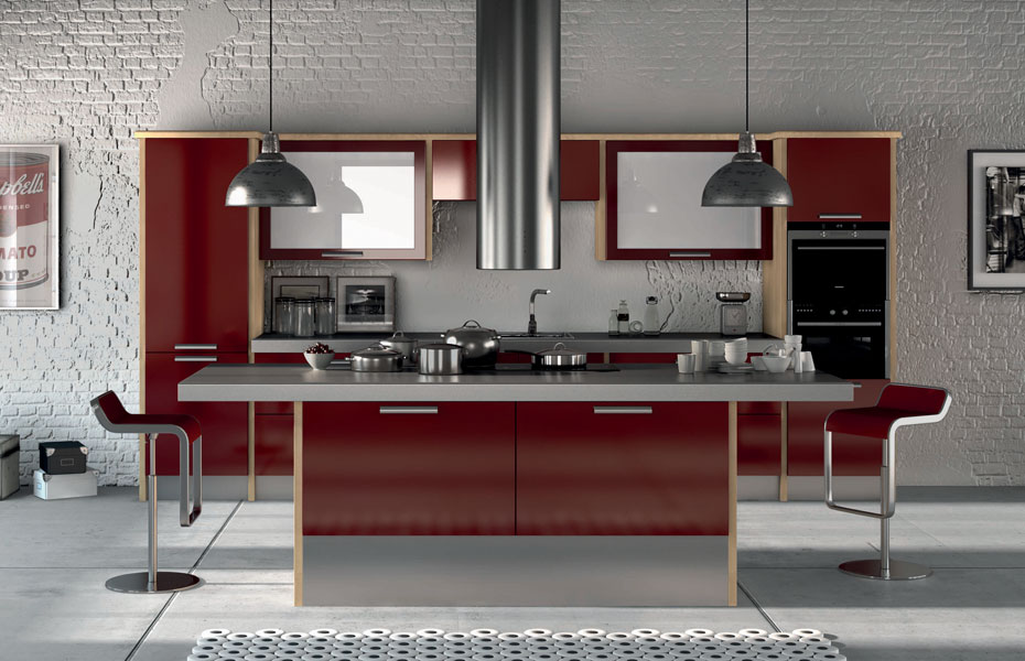 Premier duleek kitchen doors in high gloss burgundy by homestyle