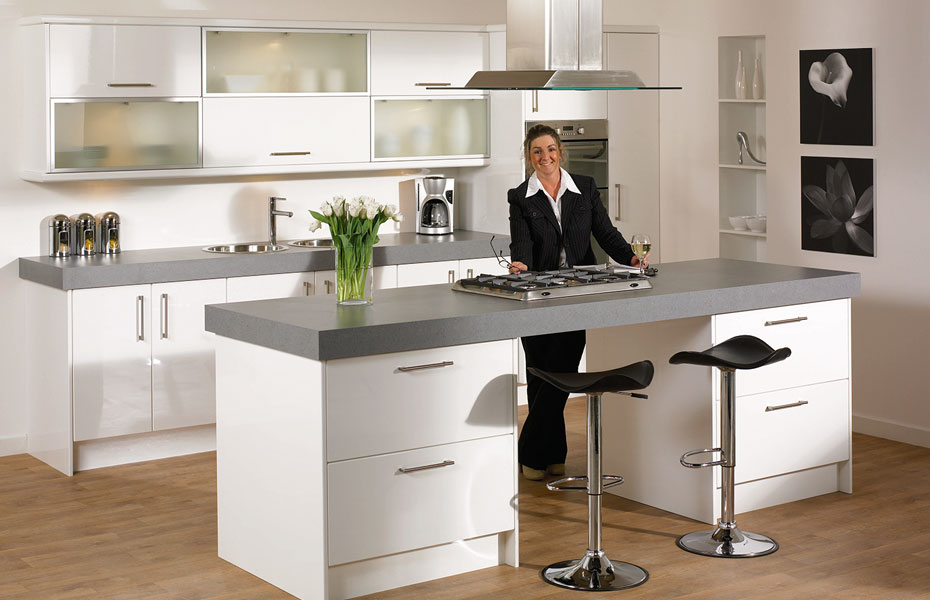 Premier Duleek Kitchen Doors In High Gloss White By Homestyle