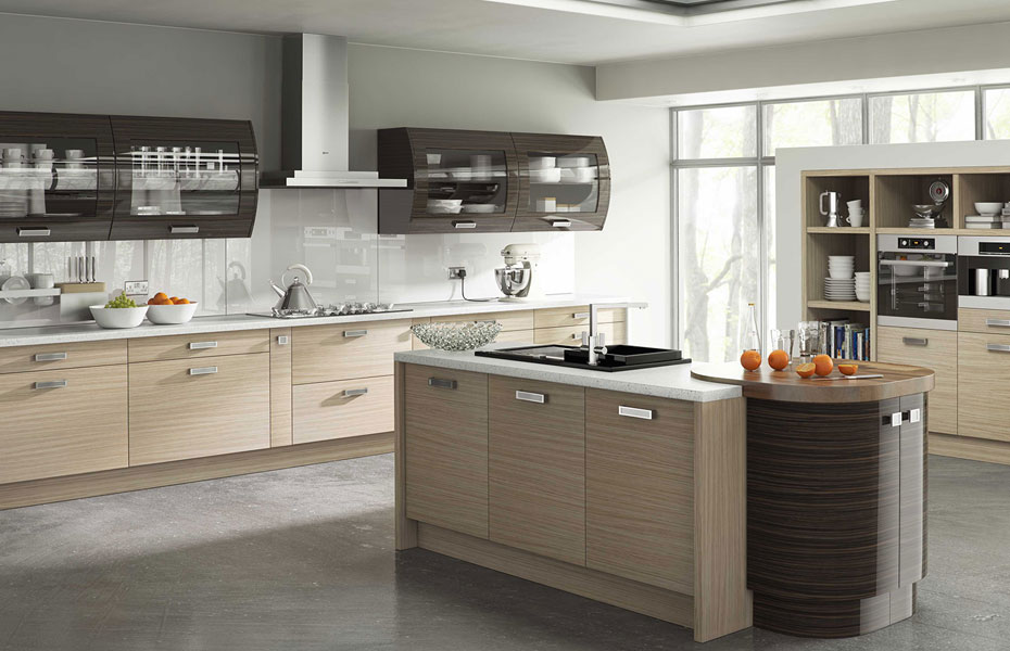 Premier duleek kitchen doors in troscan oak and high gloss for Homestyle kitchen doors