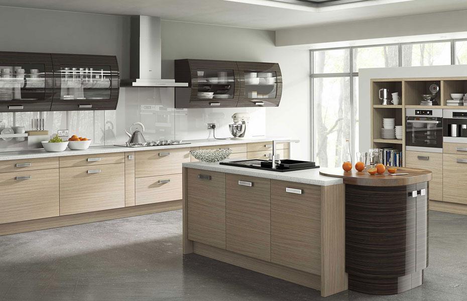 Premier duleek kitchen doors in troscan oak and high gloss for Kitchen designs gloss