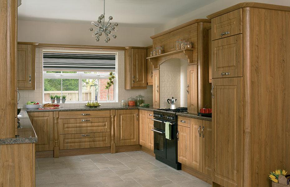 Beaded normandy kitchen doors in teak by homestyle for Homestyle kitchen doors