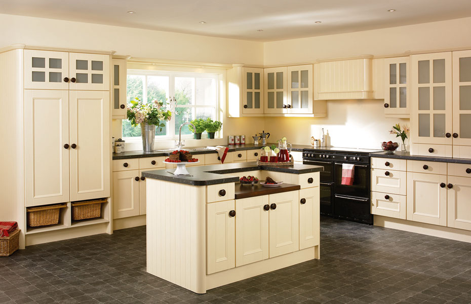 Beaded vienna kitchen doors in cream ash by homestyle for What is new in kitchen design