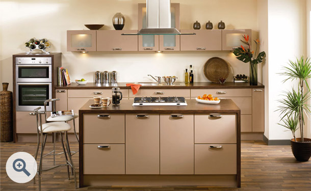High Gloss Cappuccino kitchen picture