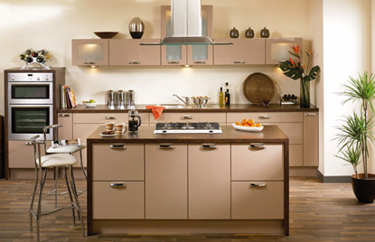 Premier Duleek kitchen in High Gloss Cappuccino finish