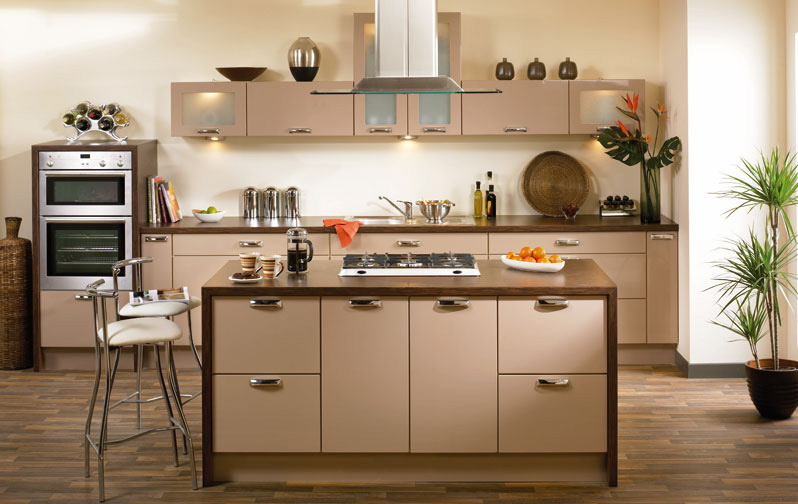 Premier duleek kitchen doors in high gloss cappuccino by for Homestyle kitchen doors