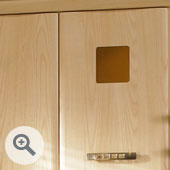 Single Square Porthole Kitchen Door Frame