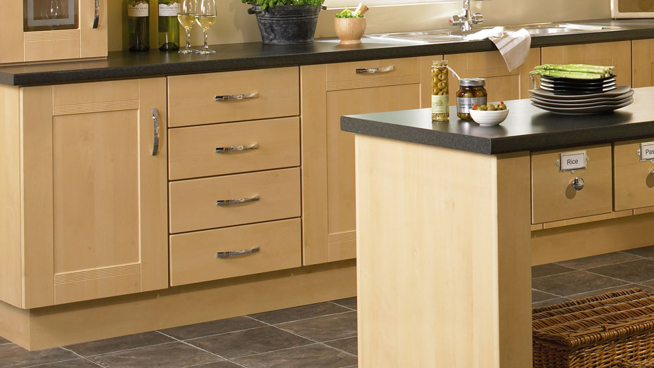 Accessories and extras to match new kitchen cabinet doors for Kitchen units without plinths