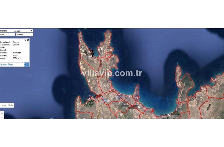 3.836 M2   Deniz  Manzaralı  Turizm İmarlı Arsa görseli