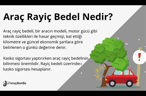 Araç Rayiç Bedel Nedir İnfografik