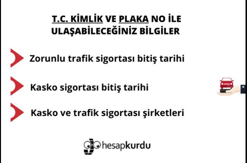 Trafik ve Kasko Sigortası Sorgulama