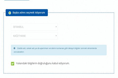 Online DASK Başvurusu Adım Başka Adres