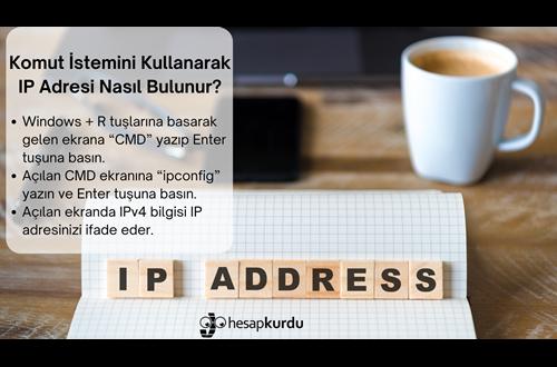 IP Adresi Nedir, Nasıl Bulunur İnfografik?
