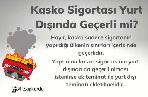 Kasko Sigortası Yurt Dışında Geçerli mi İnfografik