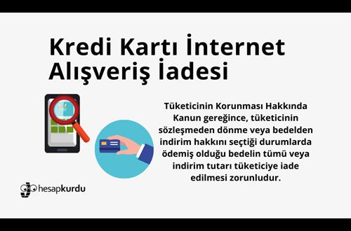Kredi Kartı İnternet Alışveriş İadesi