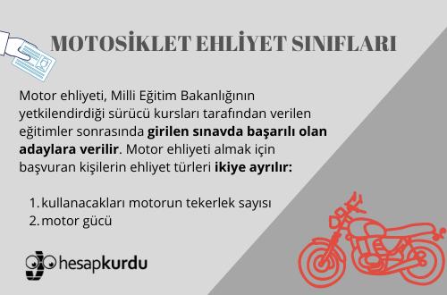 Motosiklet Ehliyet Sınıfları