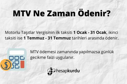 MTV Taksit Tarihleri