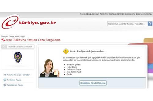 E-devlet trafik cezası sorgulama