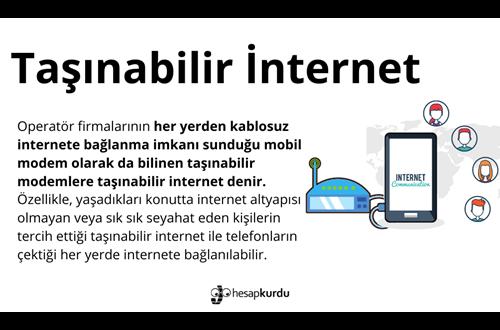 Taşınabilir İnternet İnfografik