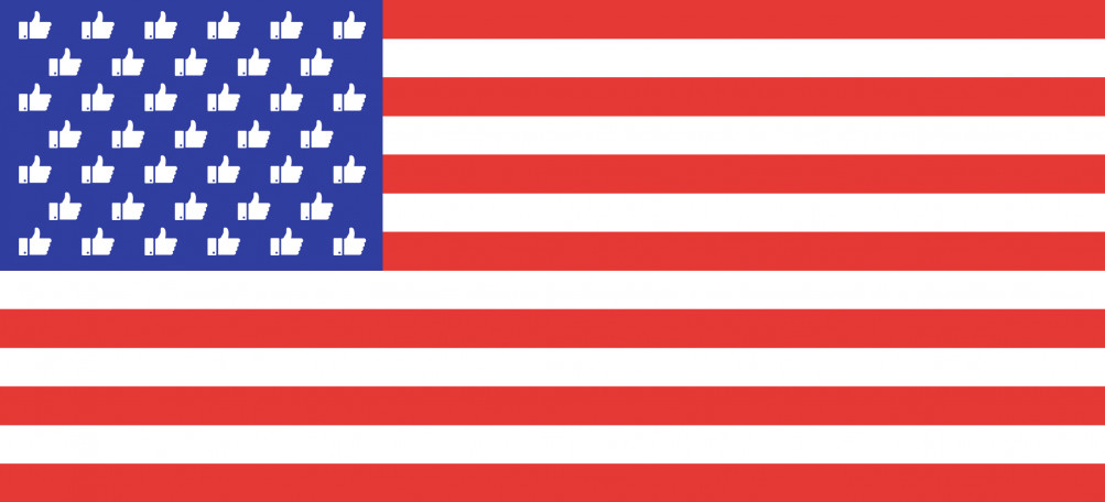 us flag with thumbs up