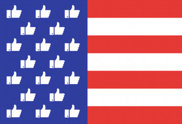 us flags with thumbs up