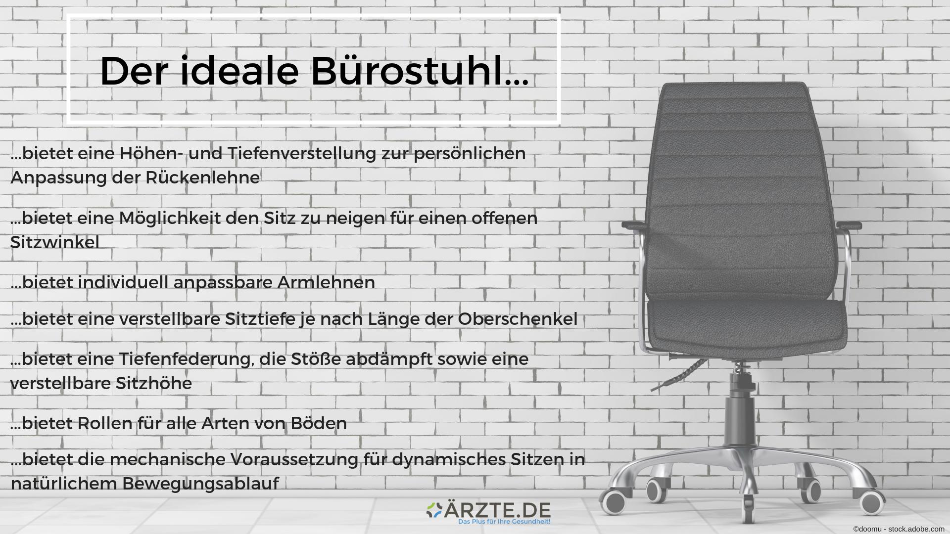 Der ideale Bürostuhl
